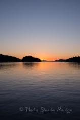 Montague Harbour sunset